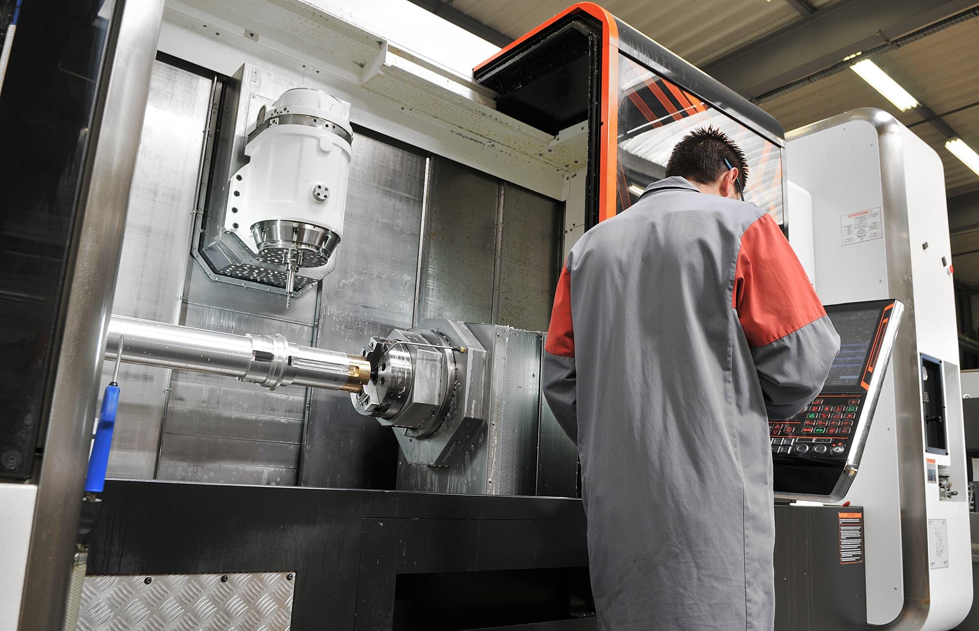 prototypage piece mécanique de précision sur Mazak Intégrex - AMV